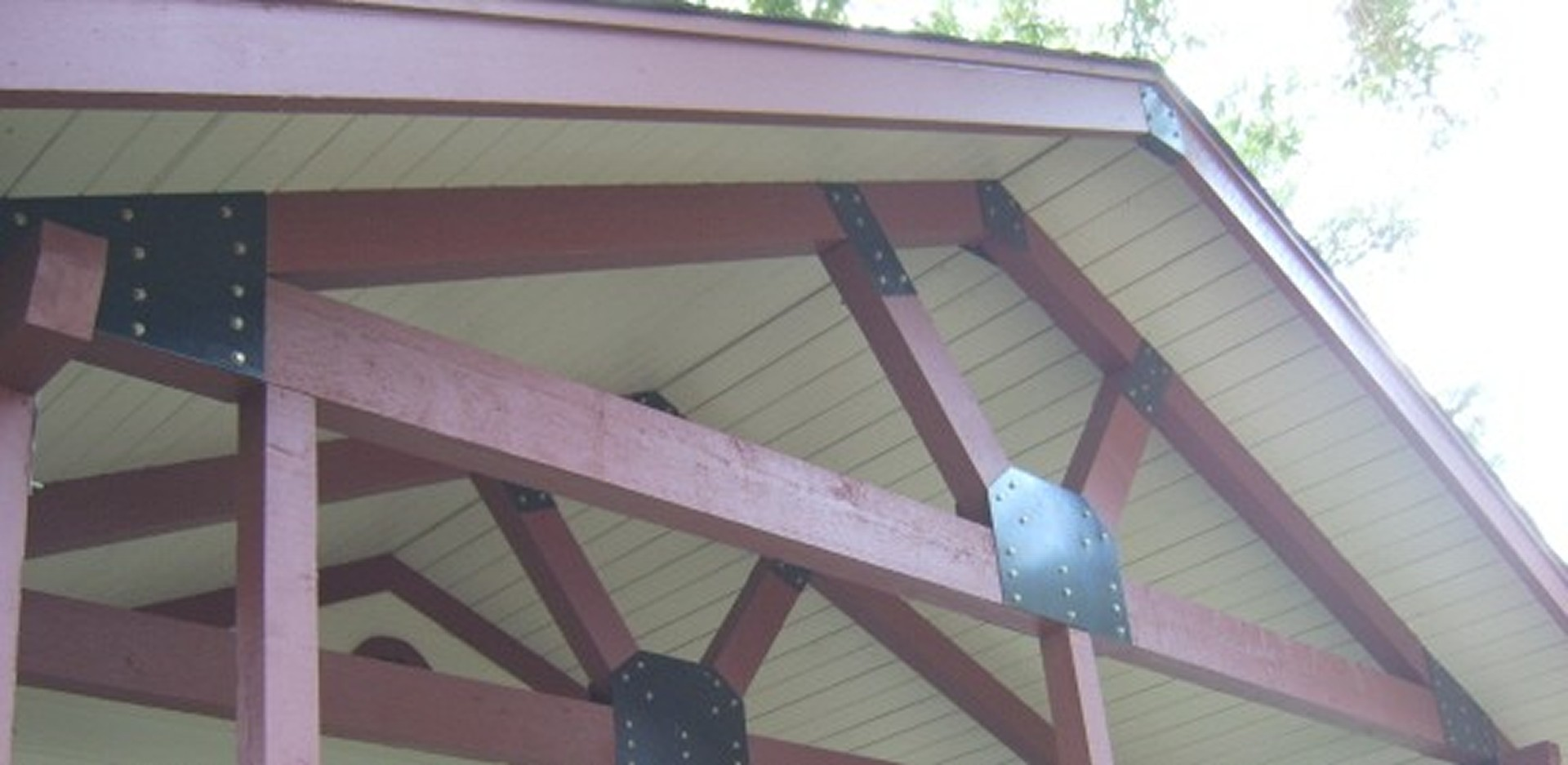 Painted Cedar Trusses